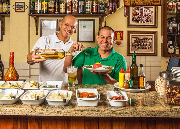 Os bolinhos de bacalhau e banana-da-terra: bom casório com a cerveja