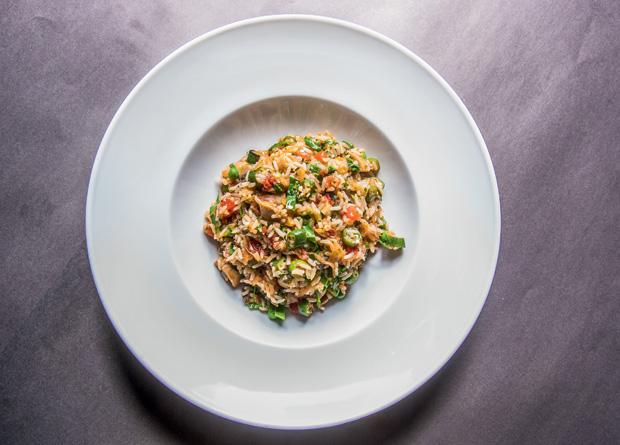 Bar da Dona Onça: arroz com vegetais