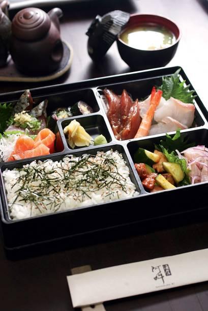 kaisen bentô: sugestão para o almoço executivo