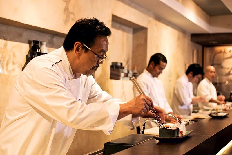 O chef japonês Shin Koike
