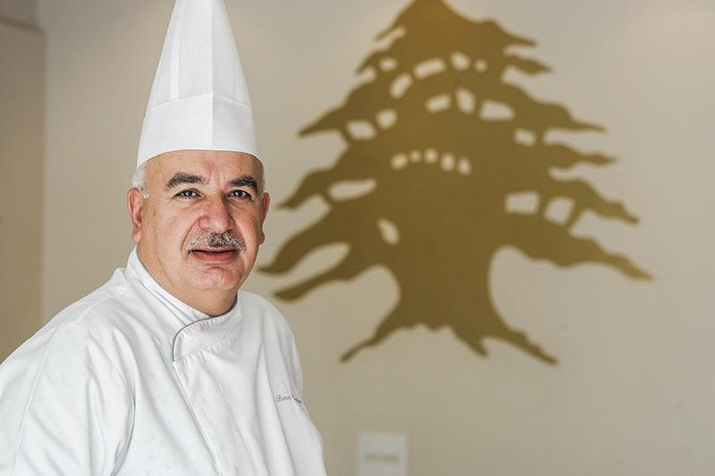 O chef libanês Benon Chamilian