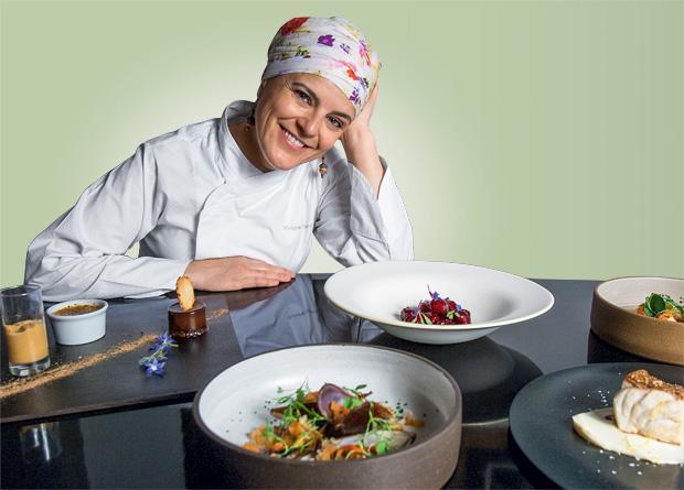 Em seu cardápio renovado todos os dias, a chef apresenta ótimas receitas preparadas com ingredientes simples