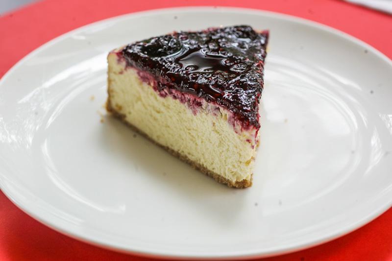 Para a sobremesa, também há cheesecake