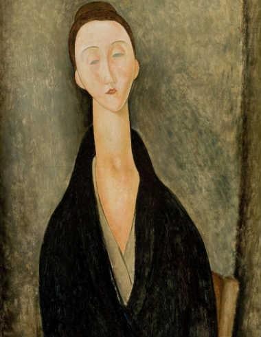 """Retrato feito por Modigliani é uma das obras poderosas que """"flutuam"""" no segundo andar do museu"""