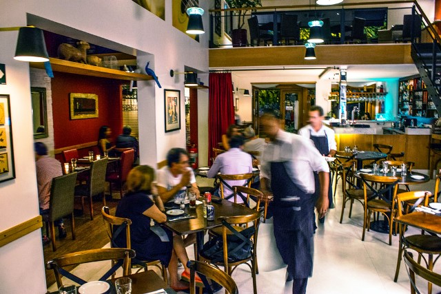 O salão do Malba Cocina y Bar