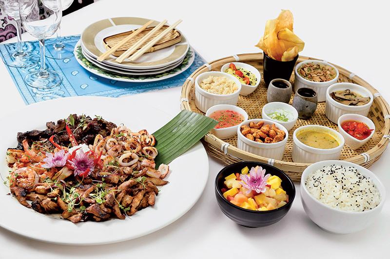 O misto de comidinhas batizado de festa thai: para quatro pessoas