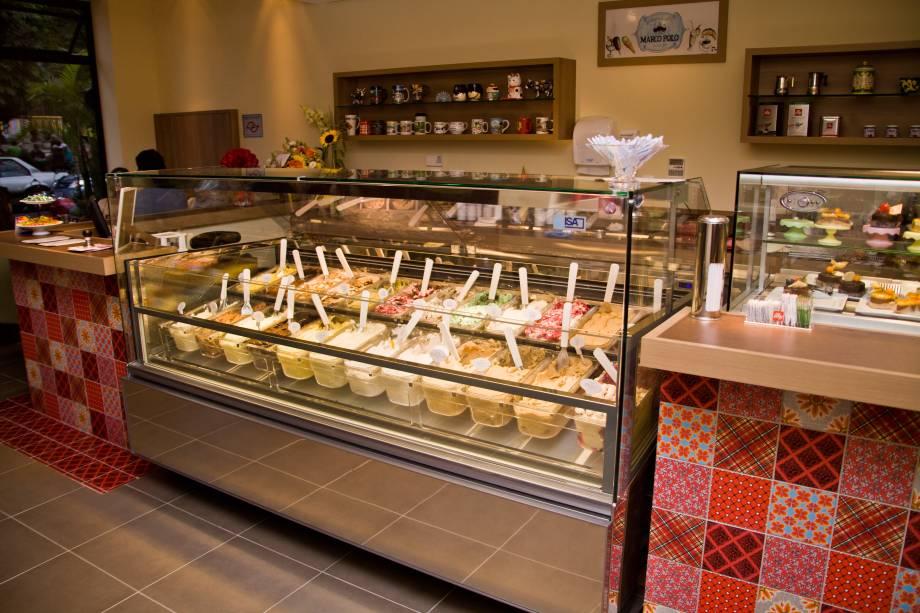 Balcão de sorvetes
