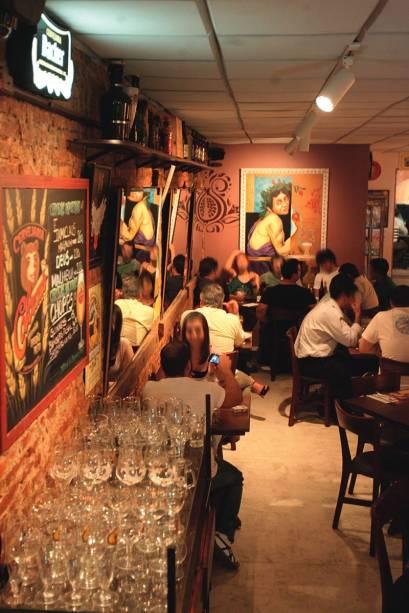 Ambiente do Melograno: a casa montou um novo cardápio de cervejas, com a colaboração da sommelière Cilene Saorin