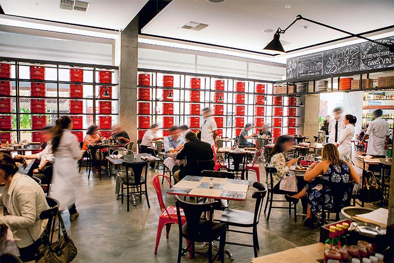 O salão do Ici Brasserie: receita heterodoxa
