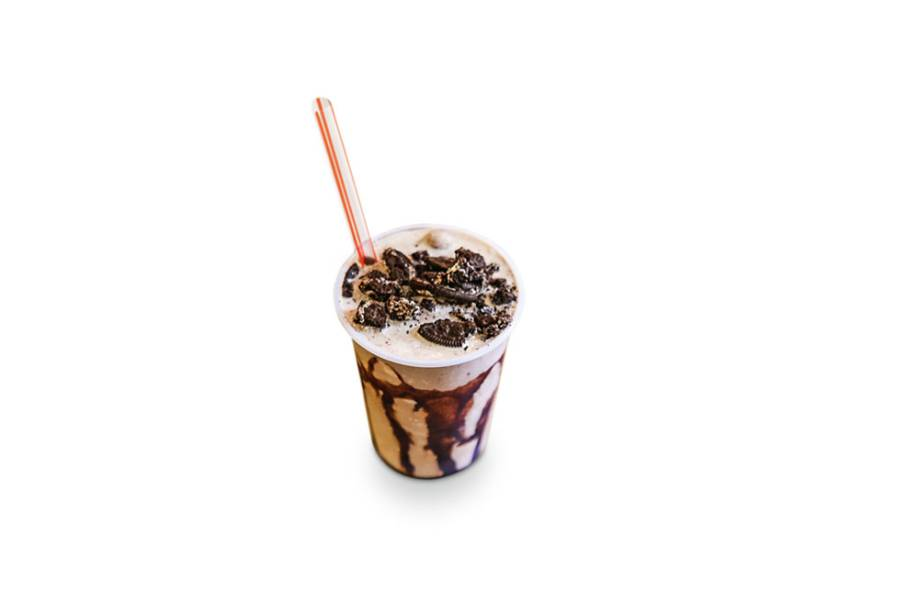 milk-shakes: feito com biscoito Oreo
