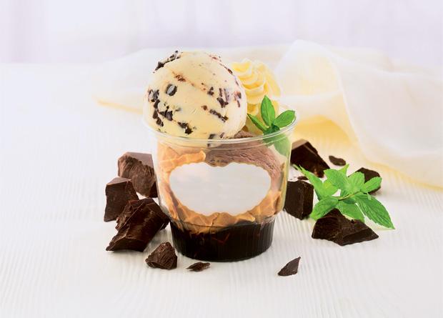 Häagen-Dazs: sorvete de baunilha, gotas de chocolate e folhas de menta
