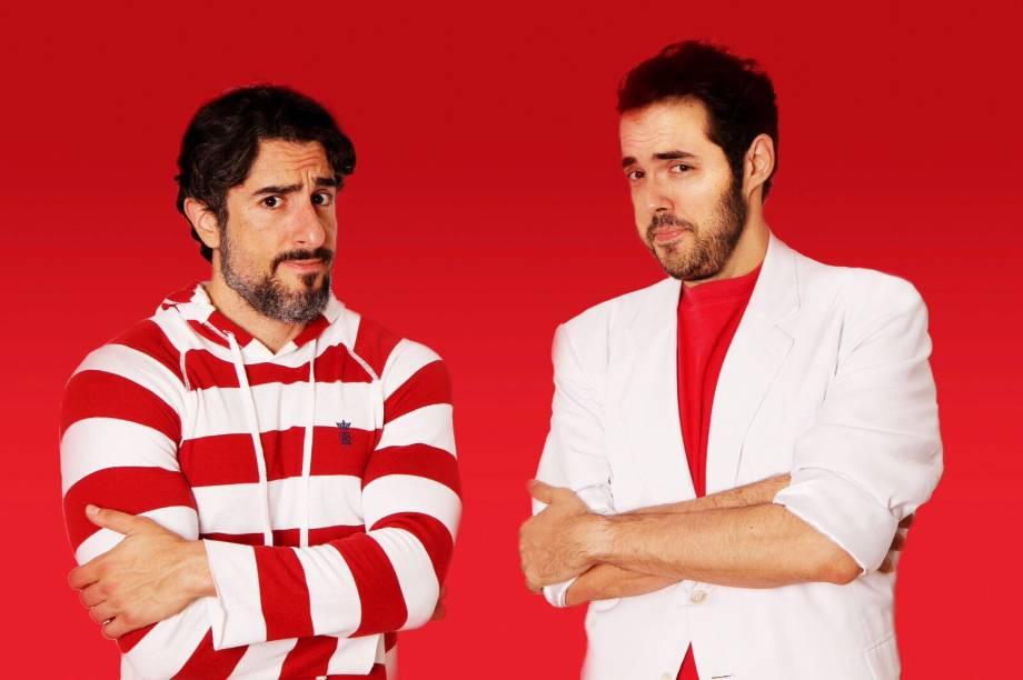 Marcos Mion e Fernando Ceylão: esquetes inspirados no imediatismo