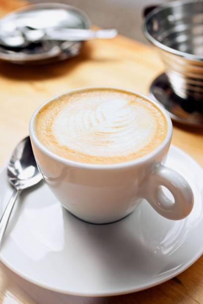 Cappuccino preparado com o blend da casa