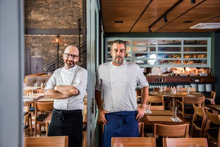 A dupla de chefs: Salvatore Loi e Paulo Barros