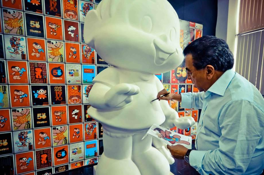 Em comemoração aos 50 anos da Mônica, esculturas da estrela dos quadrinhos foram espalhadas por São Paulo