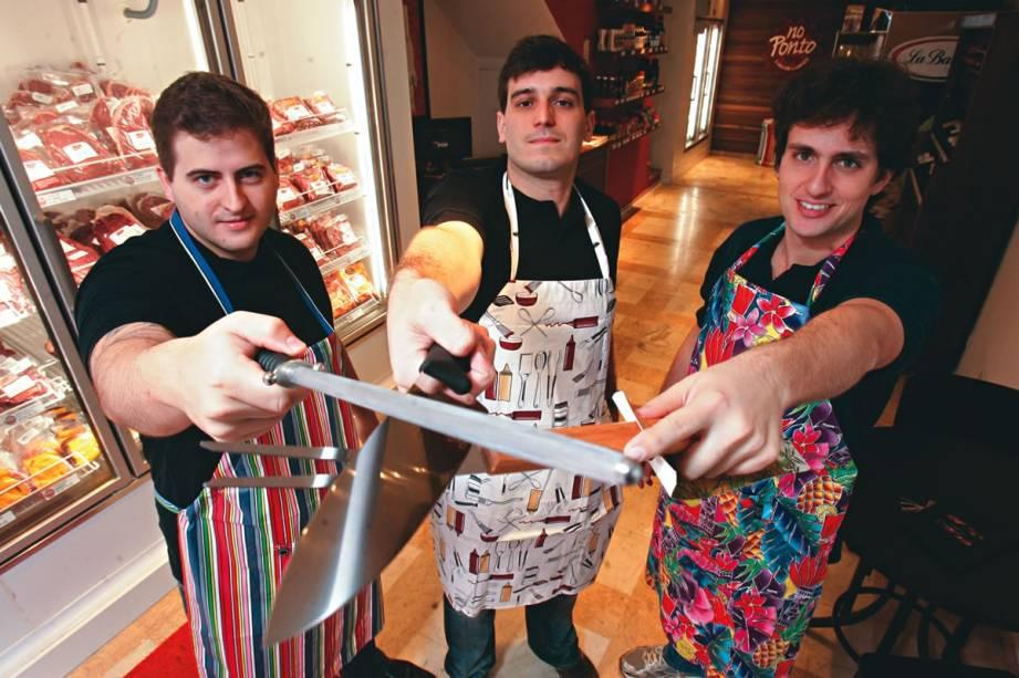 A loja No Ponto: os sócios Darcio Lazzarini, Danilo Jorge e Gabriel Samara