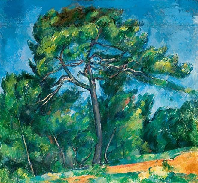 Cézanne também é exposto nos cavaletes de vidro