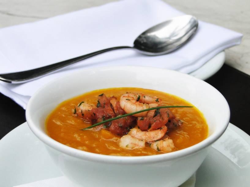 Sopa de abóbora e camarão: do Octavio Café