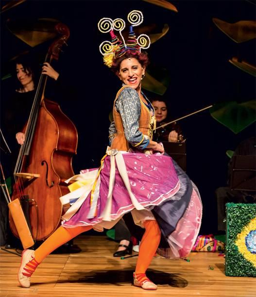 A atriz Andréa Bassitt: música clássica para a garotada