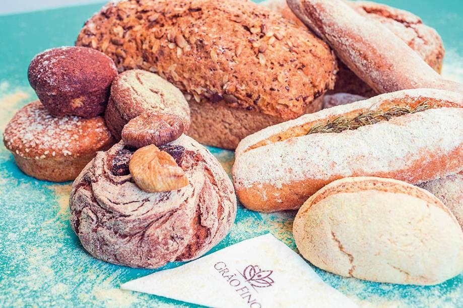 Os pães da casa: feitos sem a adição de farinha de trigo