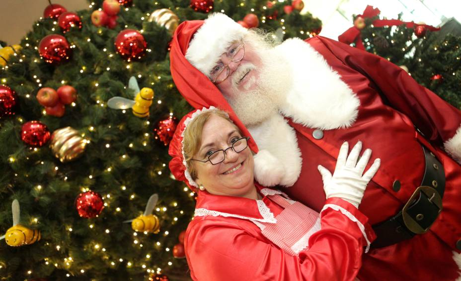 Papai e Mamãe Noel do Shopping Ibirapuera
