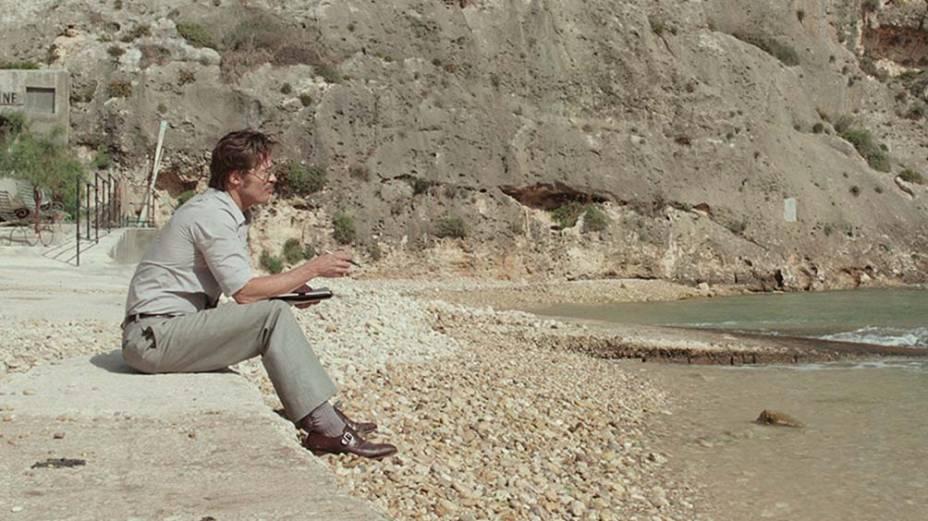 À Beira Mar: o ator Brad Pitt