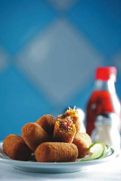 Maior sucesso da cozinha do Pirajá: croquetes de abóbora recheados de carne-seca
