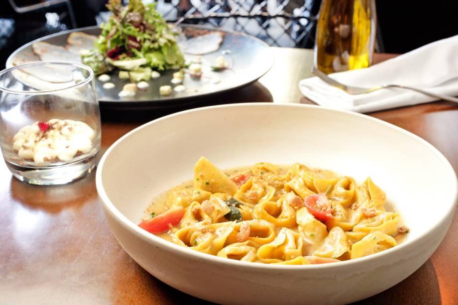 Agnellotti de abóbora: uma das opções do menu completo de almoço