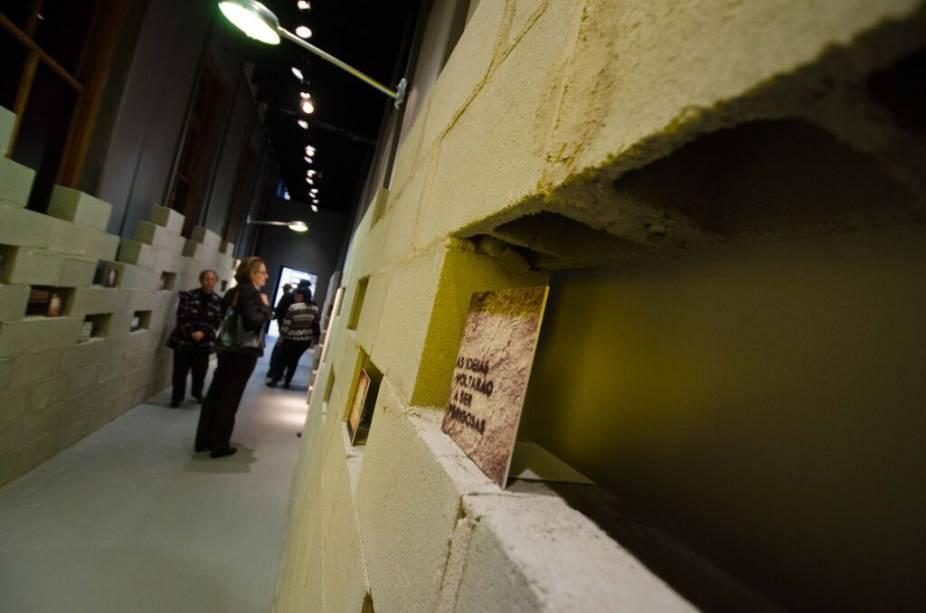 Um dos ambientes da exposição