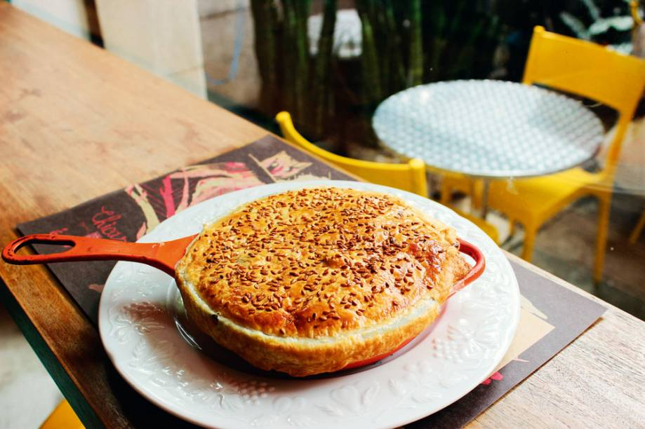 Pot pie: torta de frango ao estilo americano