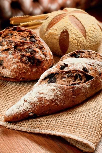Pão com chocolate, com uva-passa e australiano: pedidas caprichadas