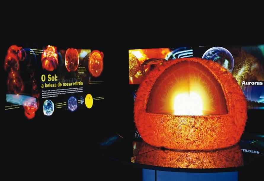 Representação do Sol no Catavento Cultural e Educacional: o museu reúne mais de 250 atrações