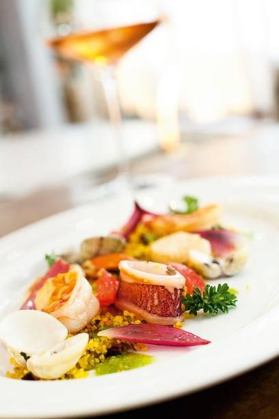 Salada de frutos do mar do Ristorantino