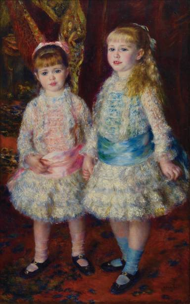 Rosa e Azul (As Meninas Cahen d'Anvers), de Renoir.