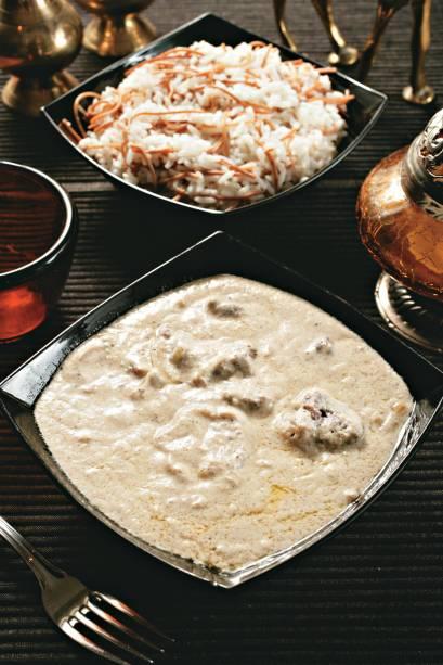 Atração do Saj: chacrie (fraldinha cozida em coalhada)