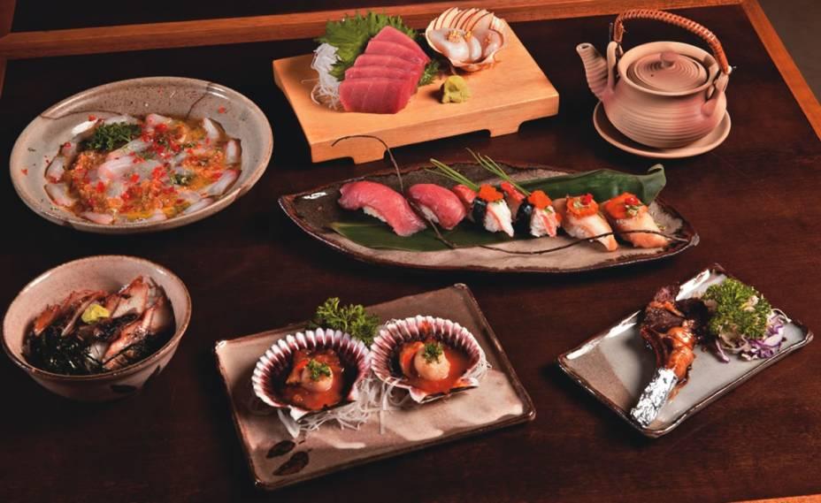 Menu degustação do japonês Shigueru: receitas oferecidas em sete etapas
