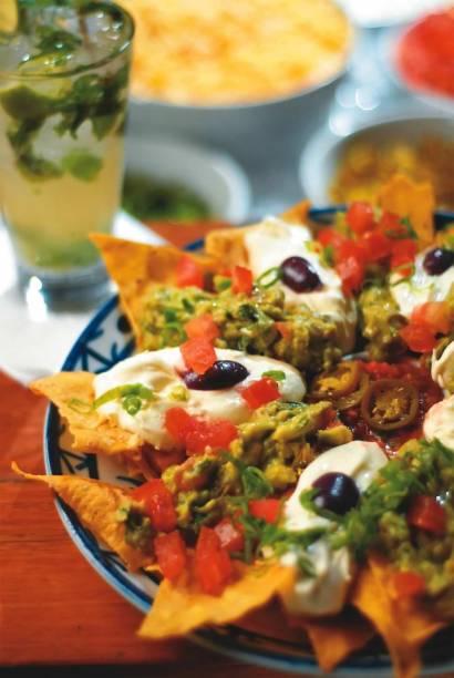 No bar mexicano Sí Señor: a porção de nachos supreme
