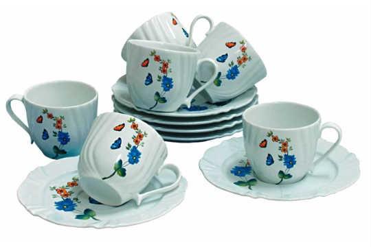 Xícaras de chá (conjunto com seis): Oxford Porcelanas para Lojas Nipon