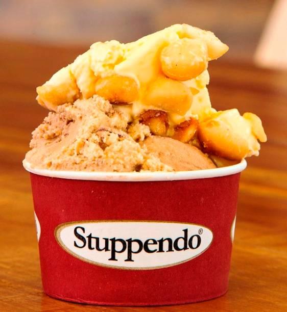 Stuppendo: quarenta sabores de sorvete se revezam na vitrine