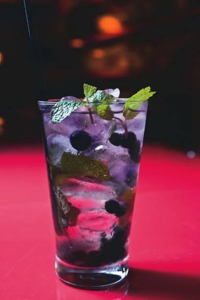 Mojito com blueberry