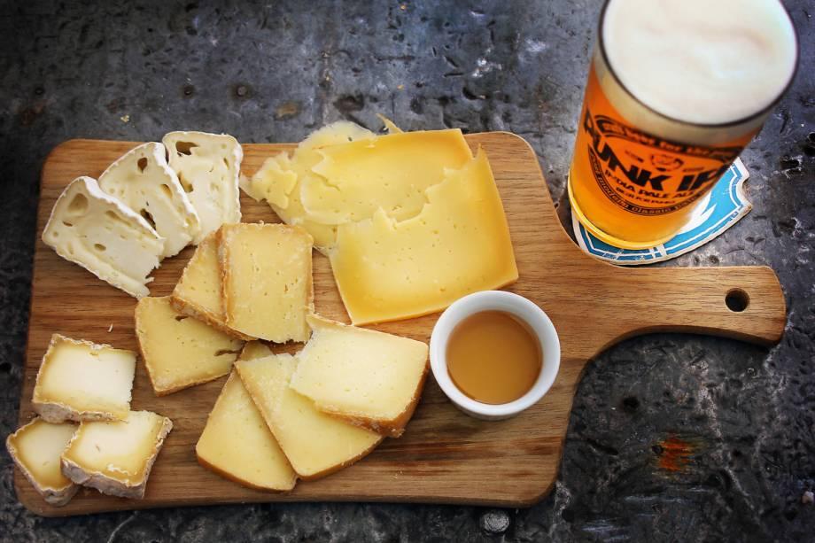 BrewDog Bar: cinco tipos de queijo