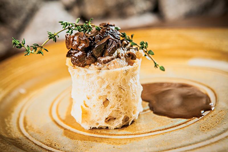 Arroz cremoso de lula e foie gras