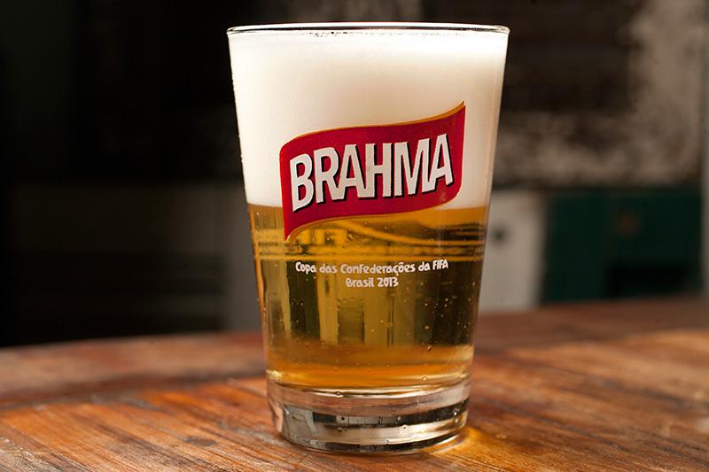 O chope Brahma, exclusivo da unidade da Vila Olímpia