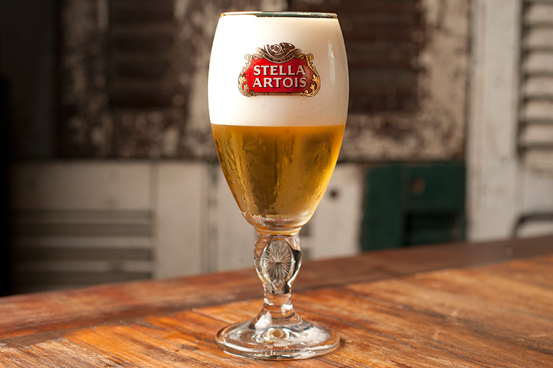 O chope Stella Artois, exclusivo da unidade da Vila Olímpia