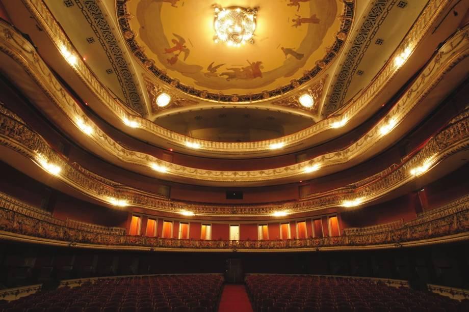 O Teatro Municipal: restaurado em 2011, após quase três anos em obras