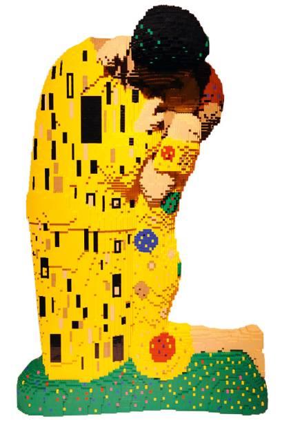 Recriações de clássicos como O Beijo, de Gustav Klimt