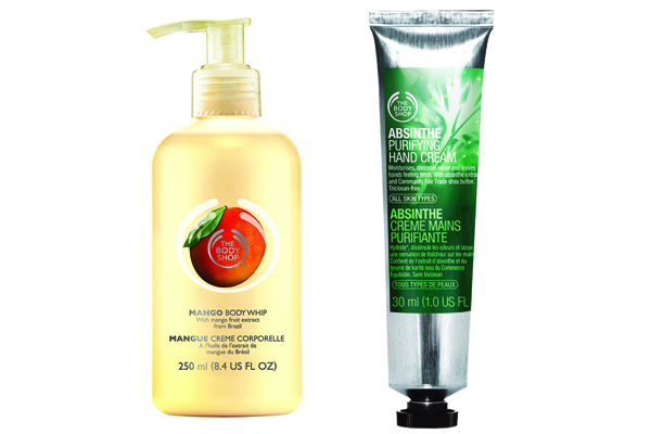 Creme de manga e de absinto, da The Body Shop
