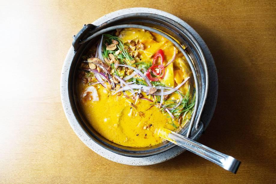 Curry de pato: levemente picante