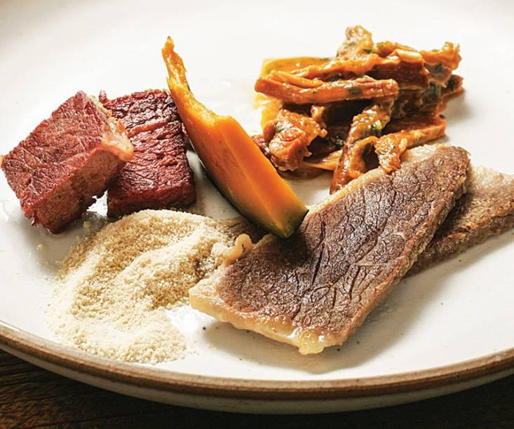 Trio de carnes do sertão, de sol, seca e jabá