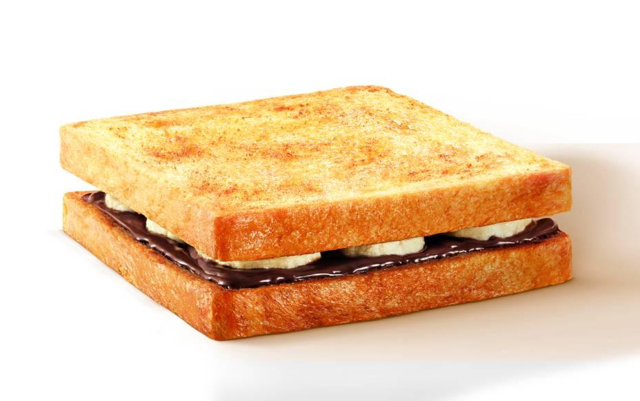 Tostex de Nutella com banana é uma boa opção para o café da manhã